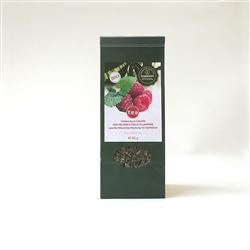 Tisana alla canapa con melissa e foglie di lampone