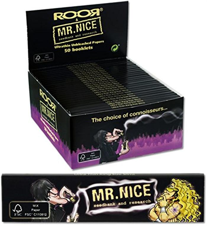 Cartine ROOR & Mr. Nice Unbleached Slim