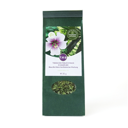 Organic Hemp tea with mallow leaves