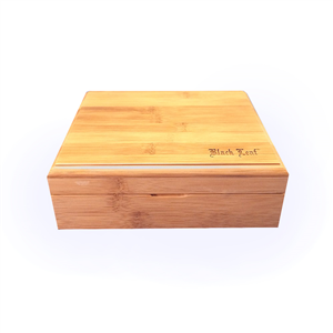 'Black Leaf' Bamboo Stoners Box