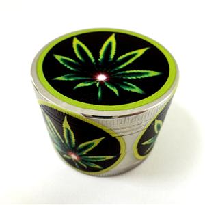 Grinder-Pollinator in alluminio 4 parti Green Leaf