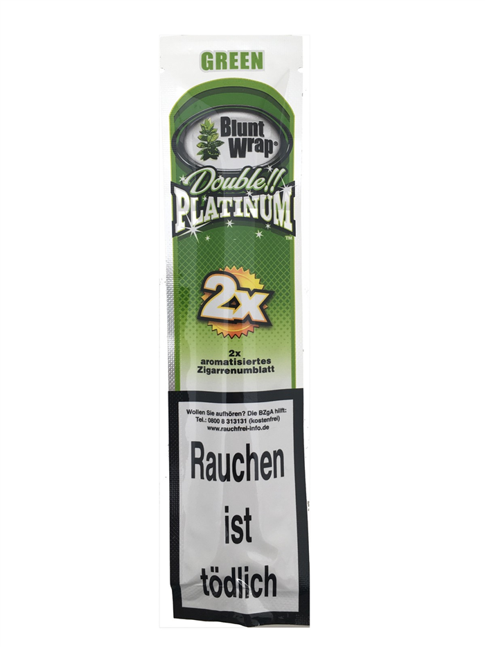 Blunt Wrap Platinum double GREEN
