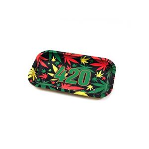 Rolling Tray 420 Rasta 16x27cm